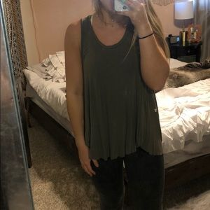 army green American Eagle soft & sexy tank